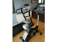 Exercise bike and treadmill/running machine
