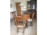 Ercol Golden Dawn Extending Dining Table with 4 Chairs