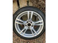 Genuine BMW M Sport 18 alloys with winter tyres