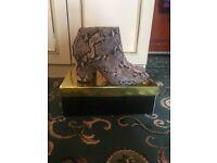 Snake pattern ASOS boots