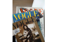 VOGUE Paris Magazines 2010-2017, 7 old issues + FREE Vogue Italy (Cat isn't on sale)))