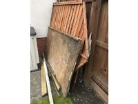 Fire wood / dismantled shed free to a good home