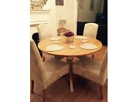 PRICE DROPPED FOR QUICK SALE - Laura Ashley Oakham Round Extending Dining Table
