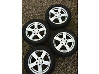 """4x 16"""" Skoda / VW / Audi alloys with Winter tyres Excellent condition. 205/55/16. £300 ono"""