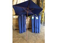 8 Blue 2m round parasols - Immaculate condition - Barely used