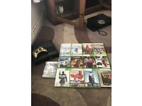 Xbox 360 with gold controller & 13 games + Kinect