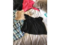 8 maternity tops size 10/12