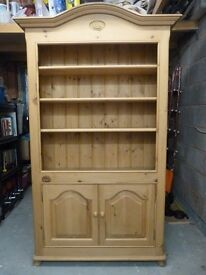 Top Quality Pine Display Cabinet / Bookcase - Unique Unit In Exceptional Condition