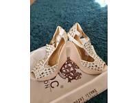Diamante cream high shoes