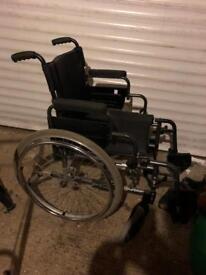 Lightweight folding wheelchair - good condition