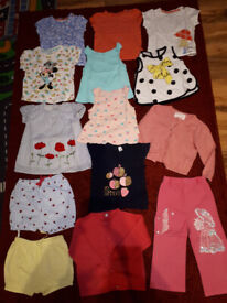 Baby girl's summer clothes bundle size 9-12 months