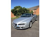 2007 Alfa Spyder 2.2 JTS Superb condition silver, FULL S/History 2 owners stylish convertible