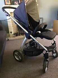 Mamas & Papas Sola pushchair with rain cover and pram liner