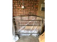 Chrome double bed end/ headboard-corstorphine