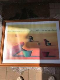 Framed print - collecting water