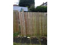 35 meters of panneled 6ft fence