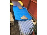 PVC corrugated sheet for decking 9 pieces