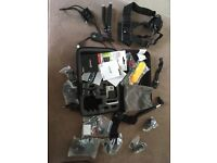 GoPro Hero 3+ with accessories, extra batteries and memory cards