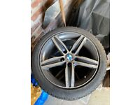BMW 1 Series winter tyres almost new