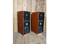 Speakers dub sound system KEF kit reference speakers or decorative or upcycle stands teak gplanera