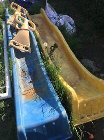 Kids garden slides & rocker