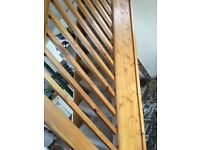 Solid pine stairs