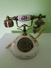 Antique style ceramic telephone