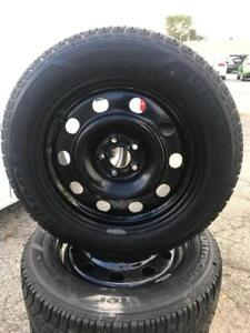 235 55R 17 GOODYEAR ULTRA GRIP WINTER SNOW TIRES & RIMS FORD EDGE ESCAPE 5X108 IN EXCELLENT CONDITION 8/32NDS