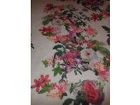 Scubba flowered fabric 3m long