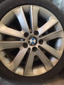 BMW 3 and 1 serise snow tyres with allows - winter tyres 120 to 335