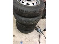13inch tyres on 5 Vauxhall steels , as new 135/80/13