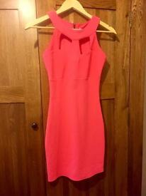 Lipsy London coral dress. Size 8. Never been worn!