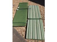 2 x sun lounger cushions hardly used purchased from Homebase