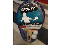 SportX Table Tennis 2Bats/2Balls