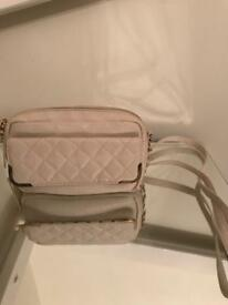 ATMOSPHERE CREAM FAUX LEATHER SHOULDER BAG - GREAT CONDITION