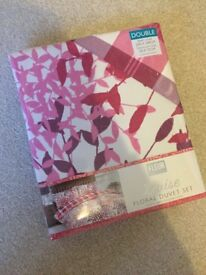 Two double duvet covers and pillows brand new in packaging