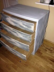chest of drawers, anie Sloan chalk painted