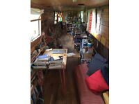 Open plan 65ft narrowboat