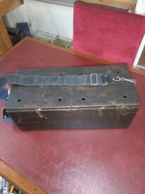 Vintage wooden ferret box