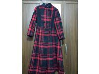 Women s Designer Coat Red & Black