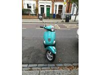 piaggio vespa lx 50cc green 2014 low mileage excellent runner!!