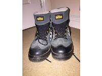 Site Steel Toe Cap Boots Men's UK Size 9