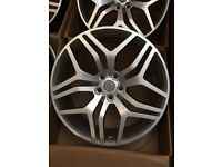 22 inch range rover sport style alloys 5x120 72.6 fits range rover sport , vogue , discovery 3 / 4