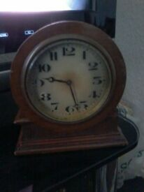 old wind up antique clock working