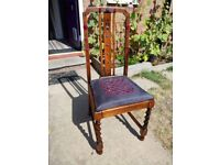 Beautiful Refinished Drop In Seat Chair