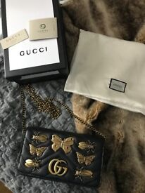 Gucci Marmont Bug Bag Wallet on chain style