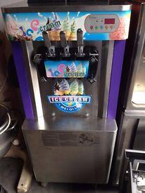 Ice Cream Machine Triple Head Floorstanding 3 Years Old ,Single Phase Electric,Very Good Condition