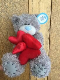 Brand new with tag, Me to You Bear Teddy, Tatty Teddy, with red hearts, 5""