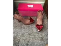 Vivienne Westwood Anglomania pink heart shoes size 5