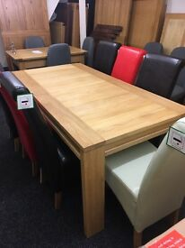 Oak dining table 6-8 seater No chairs included